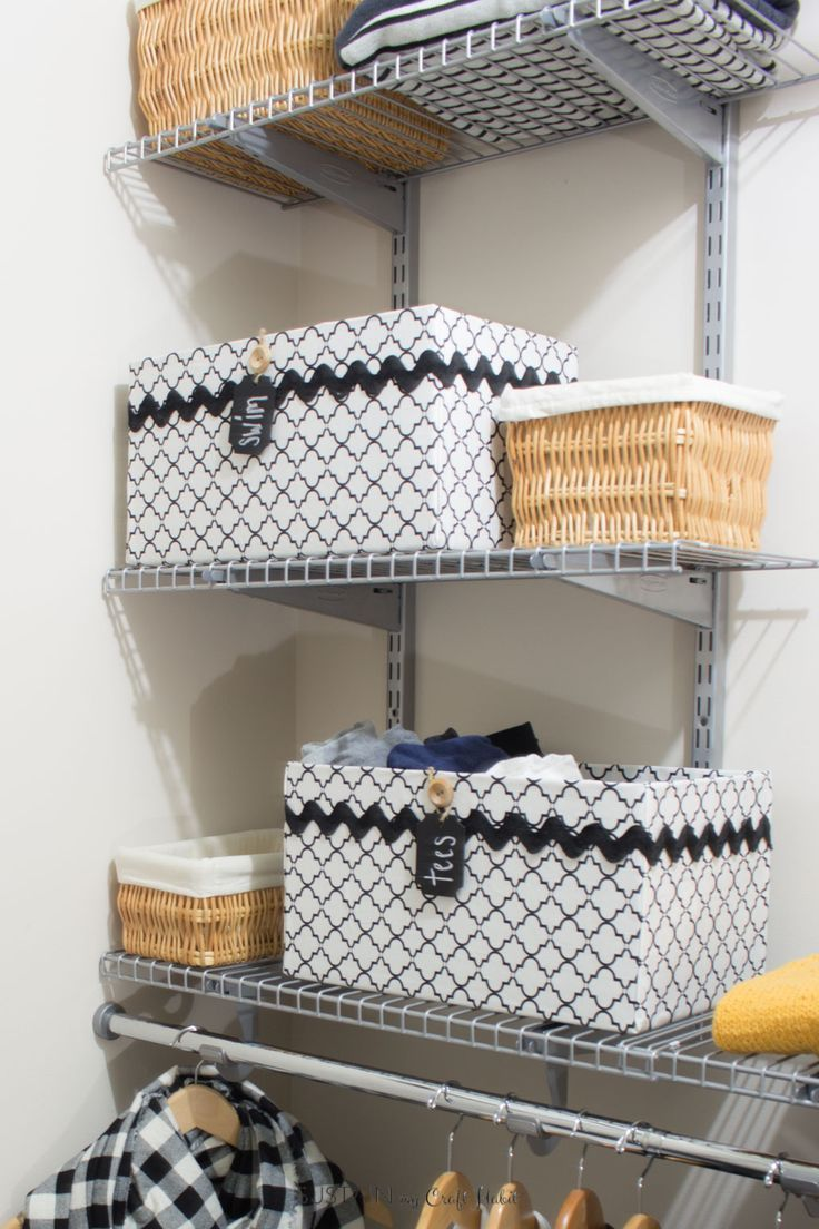 DIY Upcycled Cardboard Box Storage Bins | Closet Organizing Ideas | How To  Make Black And
