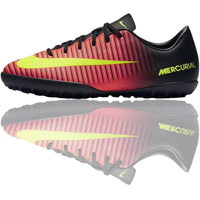 Nike Mercurial Vapor XI Kids Turf Trainers (TF - Crimson/Black/Pink)