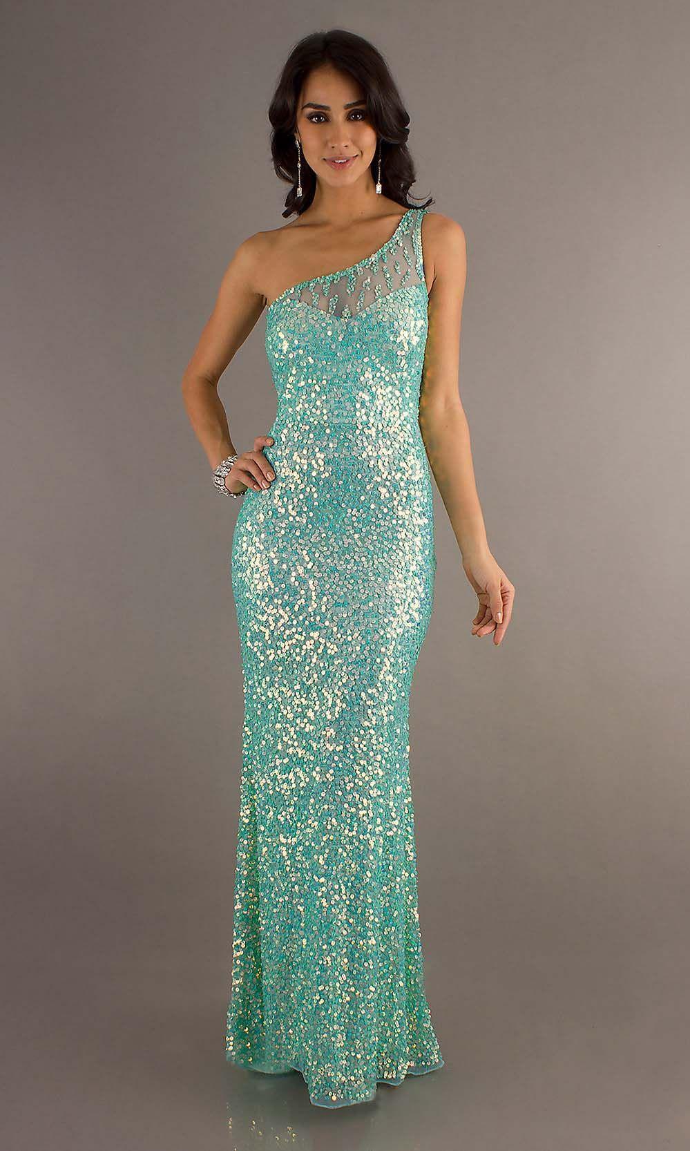 one shoulder prom dress, sequin prom dresses, affordable prom ...