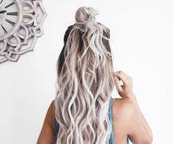 Long Wavy Hair Bun