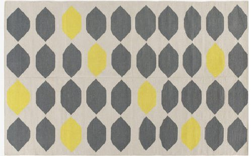 Habitat Trillo Medium Grey And Yellow Cotton Rug 140 X 200cm Rrp 150 Rugs Woven Rug Grey Rugs