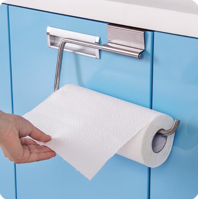Wall-mounted Napkin Household Tissue Paper Box Kitchen Toilet Perforated Storage