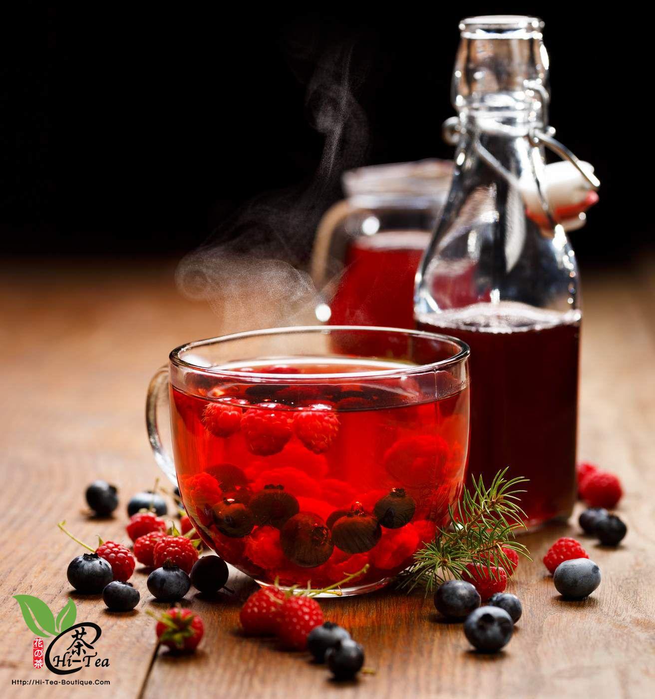 Blueberry Fruit Tea   蓝莓果粒茶 Ingredients: Hibiscus, Rose