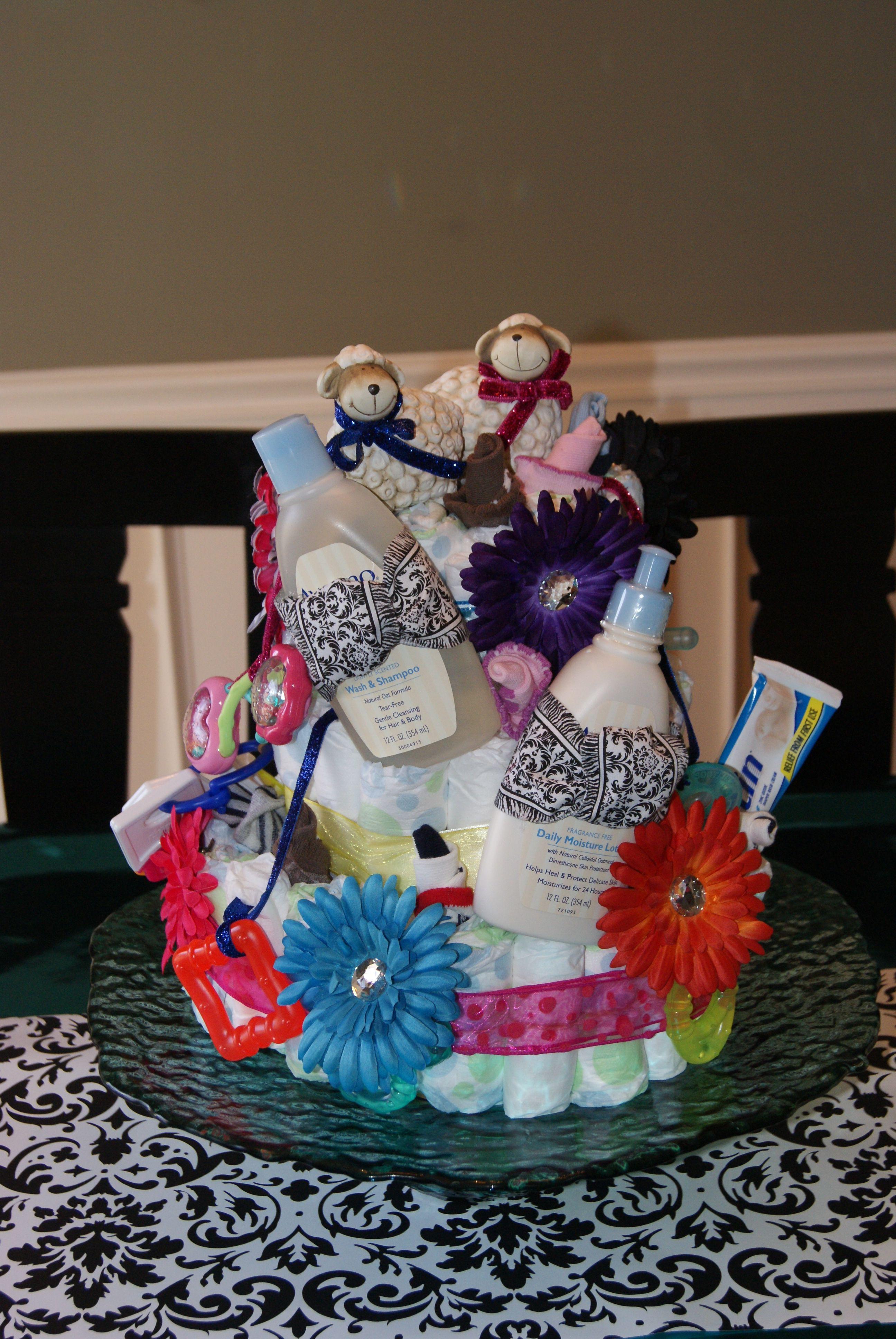 Twin Diaper Cake Twin diaper cake, Cake, Gifts