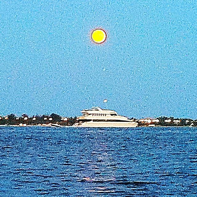 Cinco de mayo moon over Miami.