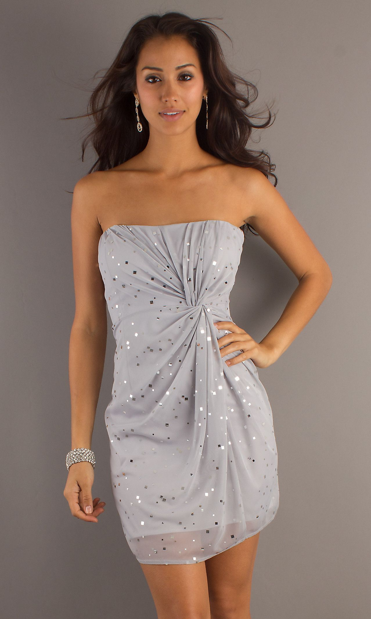 short silver party dress ju size silver or gray