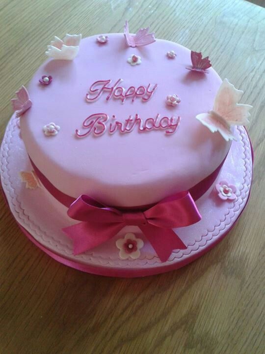 Girly Birthday Cake Cakes Pinterest Birthday Cakes And Cake
