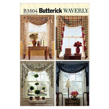 Amazon Com Butterick Patterns B3804 Swags Jabots All Sizes Arts Crafts Sewing Home Decor Envelope Pattern Butterick Pattern