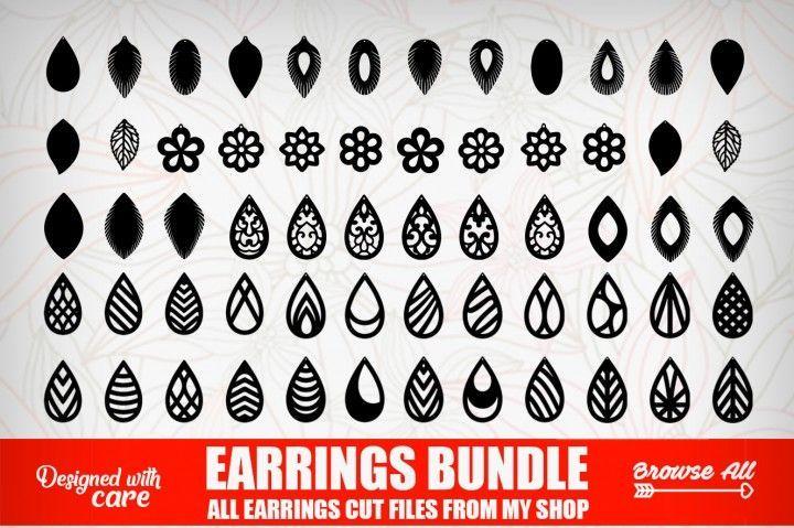 Download Tear Drop SVG - Pendant SVG - Earrings Bundle - Leather ...