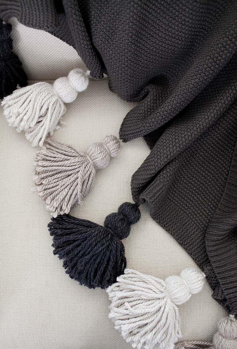 Tassel Blanket 2 How To Diy Pinterest Weihnachtsideen