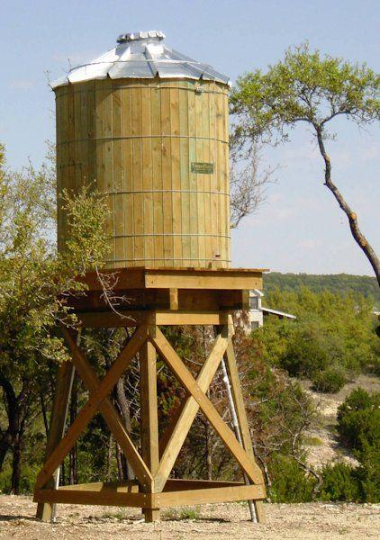 Wood Water Storage Tanks With Wood Or Steel Tower Be Prepared