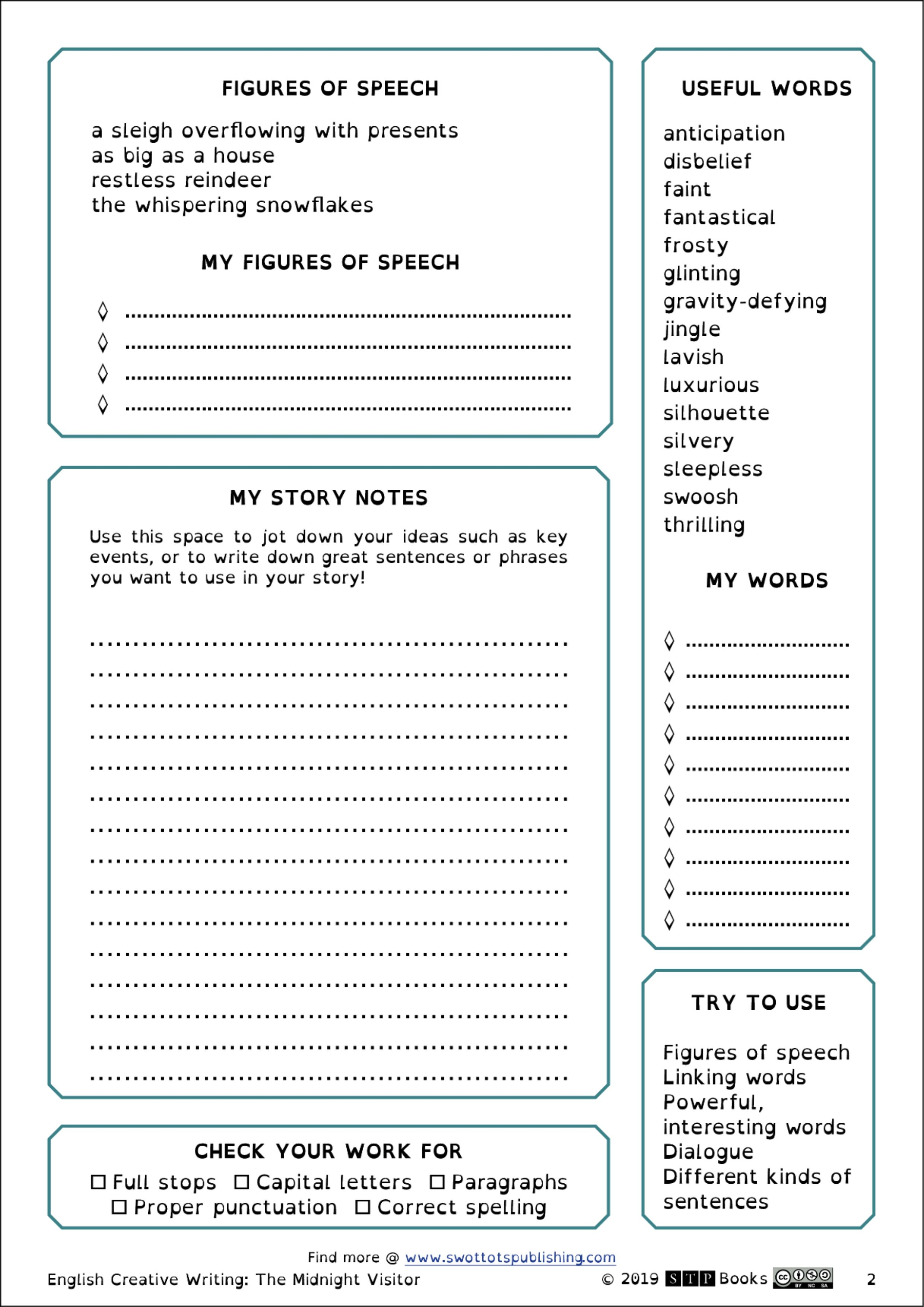 Christmas Worksheet Creative Writing Prompt Dyslexia