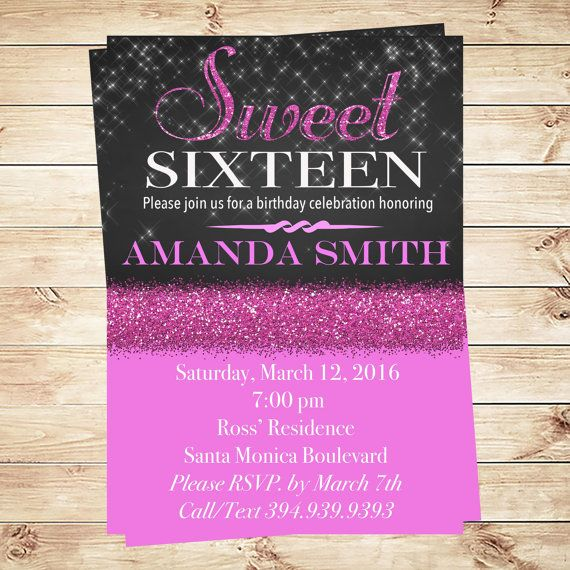 Discover elegant and cheap sweet 16 printable birthday invitations – Sweet 16 Birthday Invitation Templates