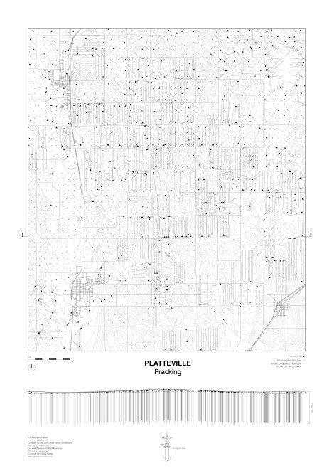 John Cook: Fracking grid, Platteville, Weld County, CO