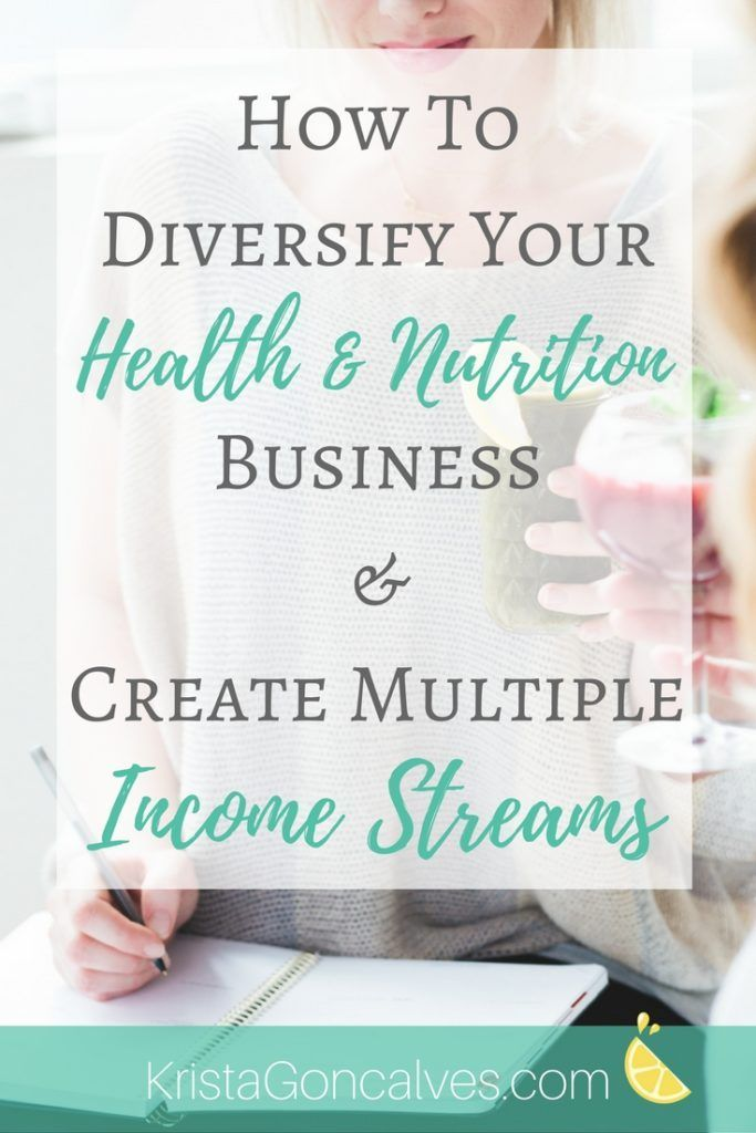 How to Diversify Your Health  Nutrition Business and Create Multiple Income Streams  Making Lemonade with Krista Goncalves Nutritionist
