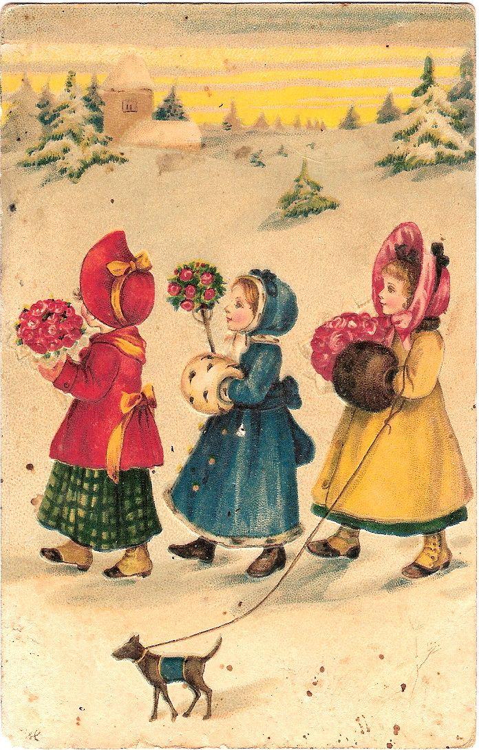 Рождественские открытки 19