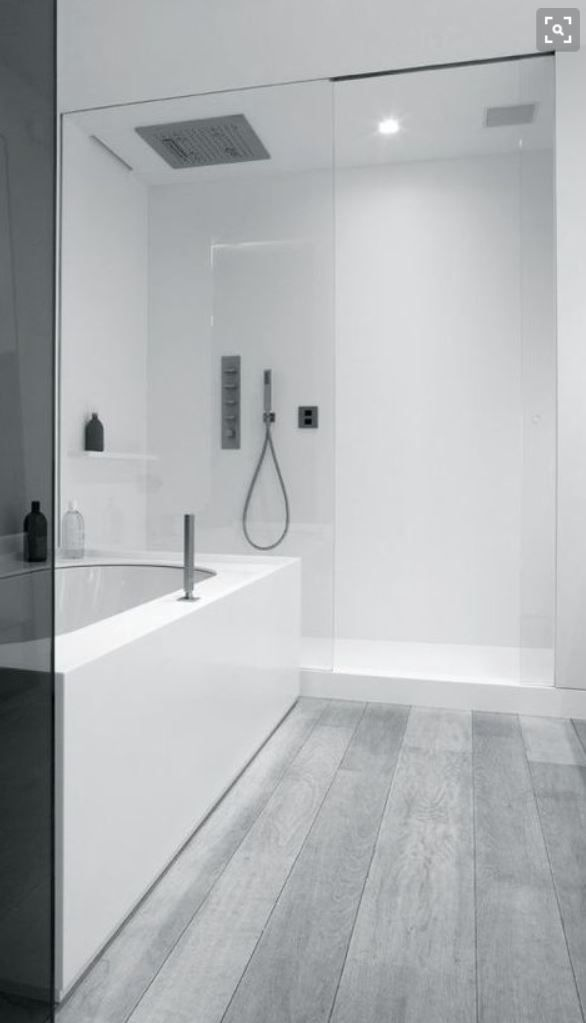 Seamless White And Concrete Combination No Tiles No Grout Easy Clean Minimalist Bathroom Bathroom Design Modern Bathroom Design