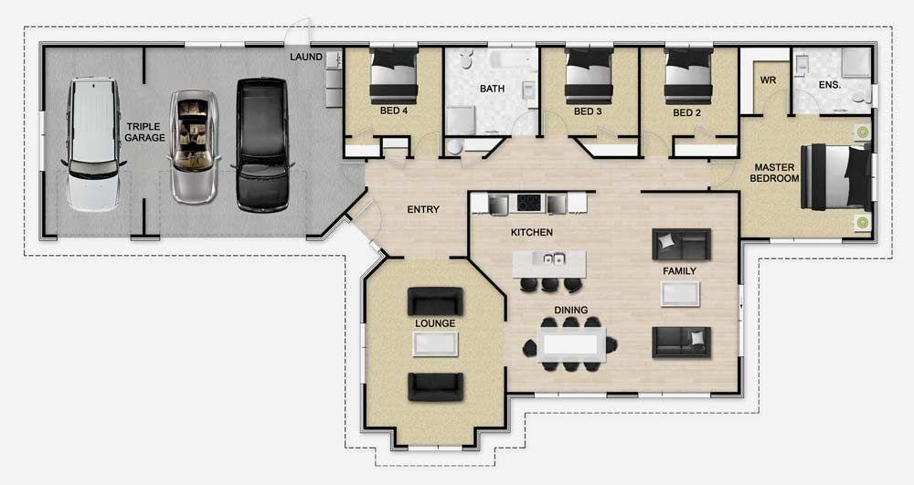 Golden Homes Plan: Hummer | New Zealand floor plans | Pinterest ...