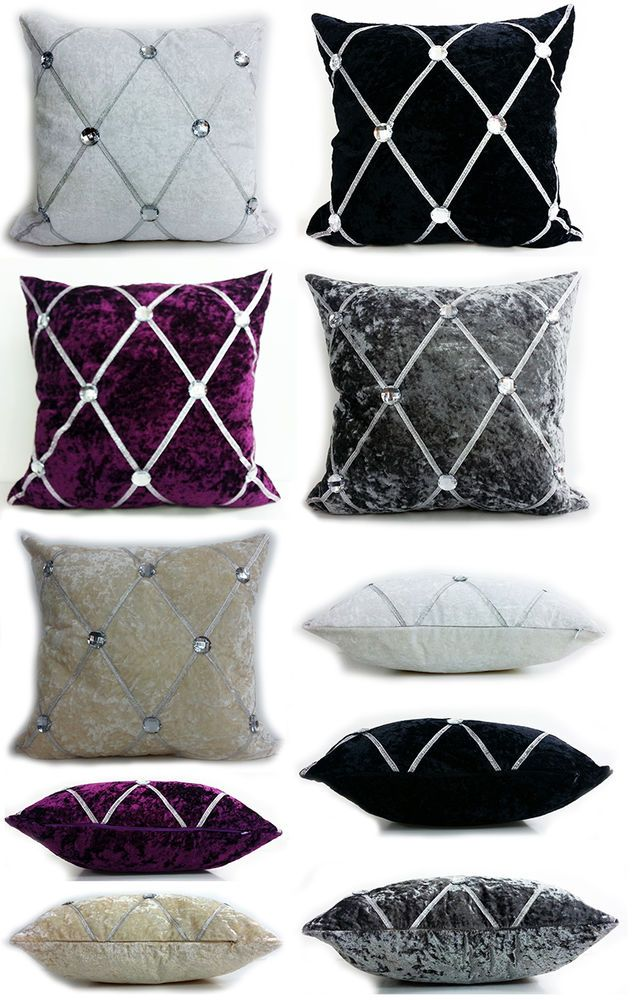 Large Crush Velvet Diamante Chesterfield Cushions or Covers 3