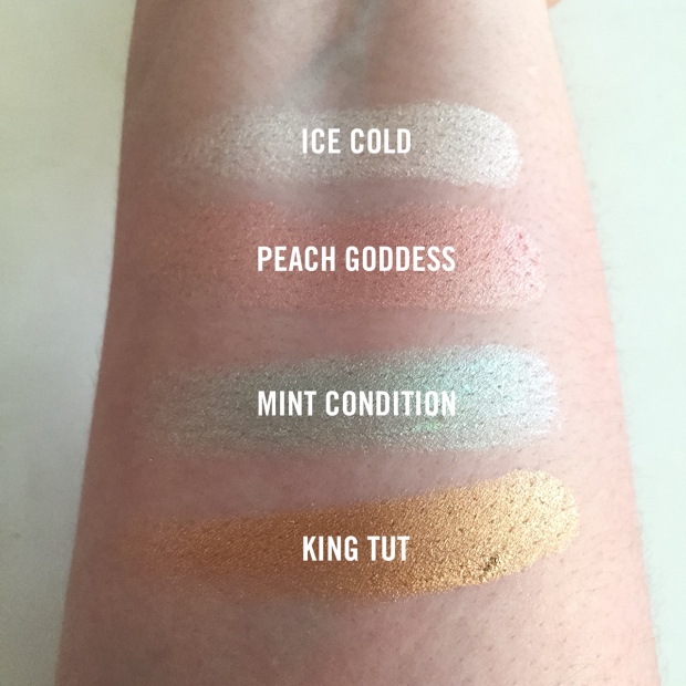 Jeffree Star Skin Frost Highlighter Swatches From