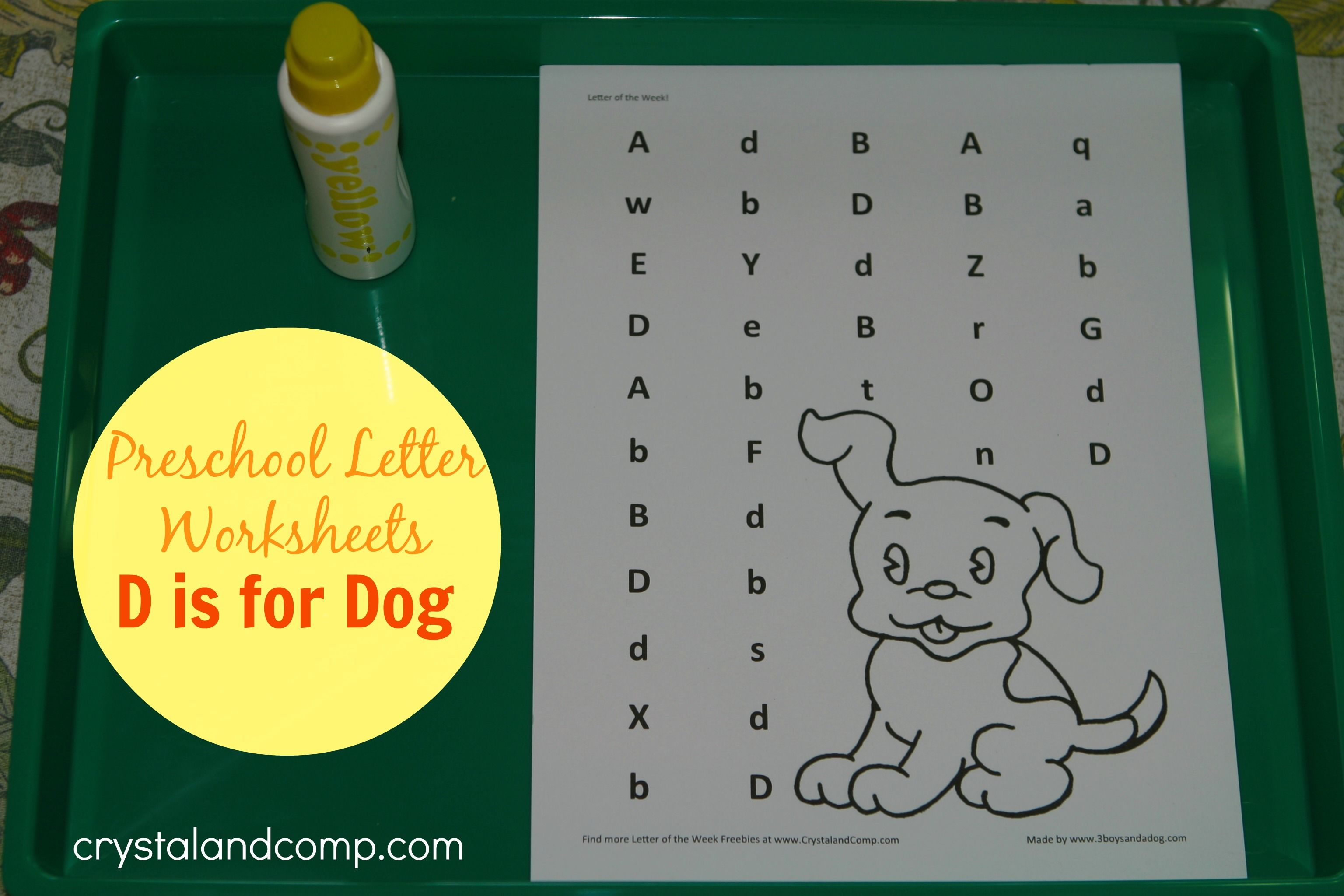 Preschool Letter Worksheets: D is for Dog | Letter worksheets ...