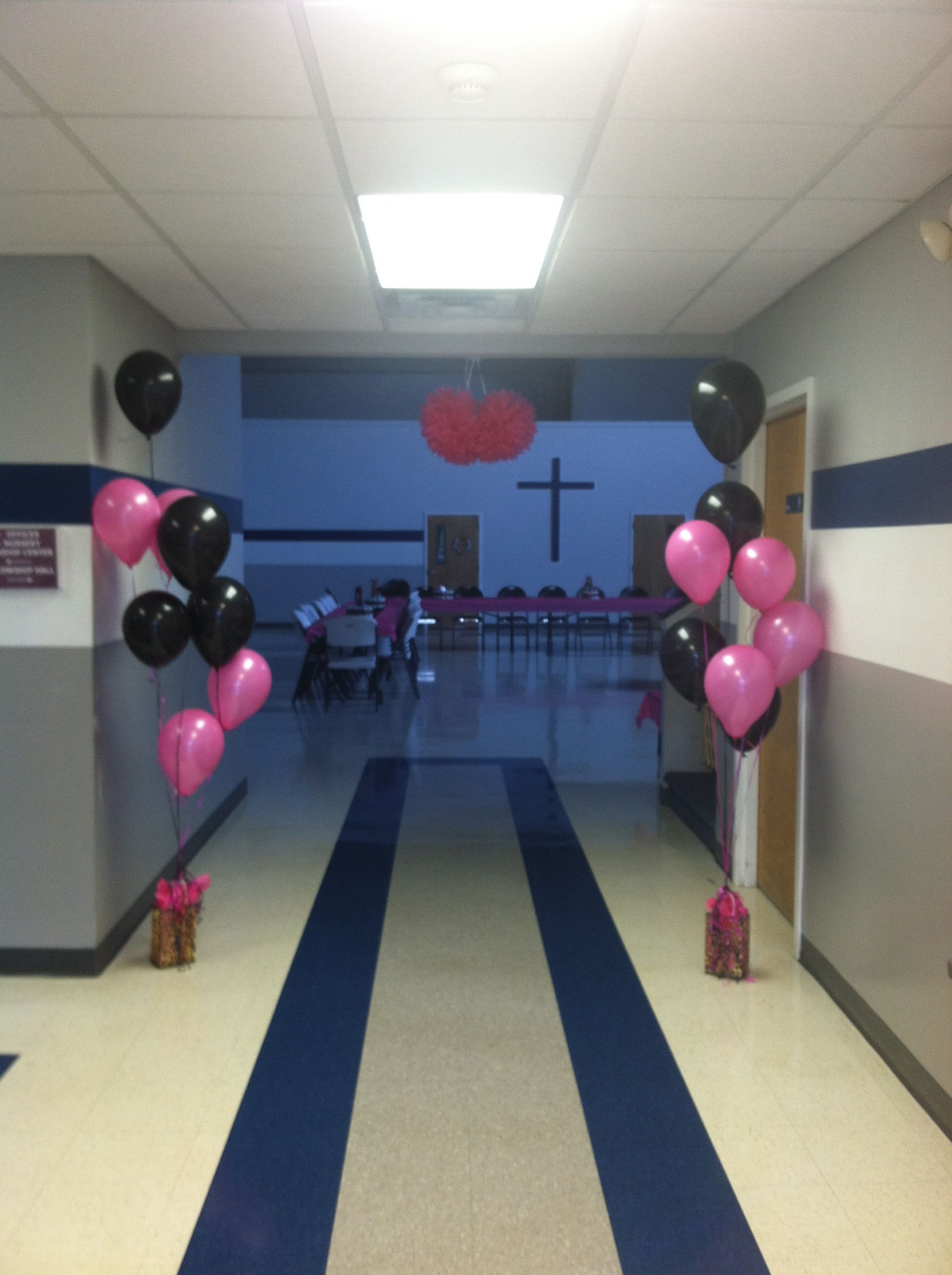 Entrance to the Delainah Rae baby shower