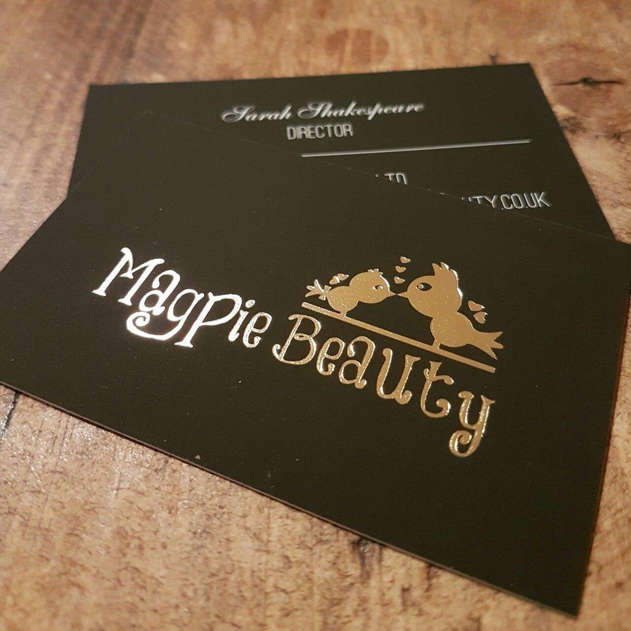 Beautiful gold foil printed business cards nail makeup