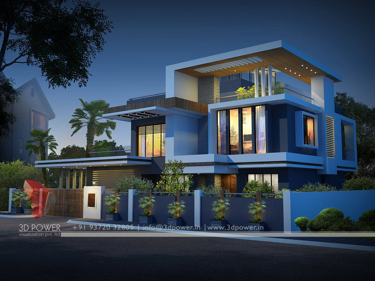 Pin by 3d power on statement in style with exclusive night for Modern house elevation design