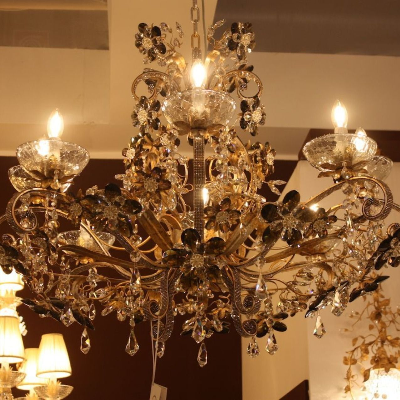 Photo of Ritzy, imposing chandeliers aplenty were at Euroluce for tho…