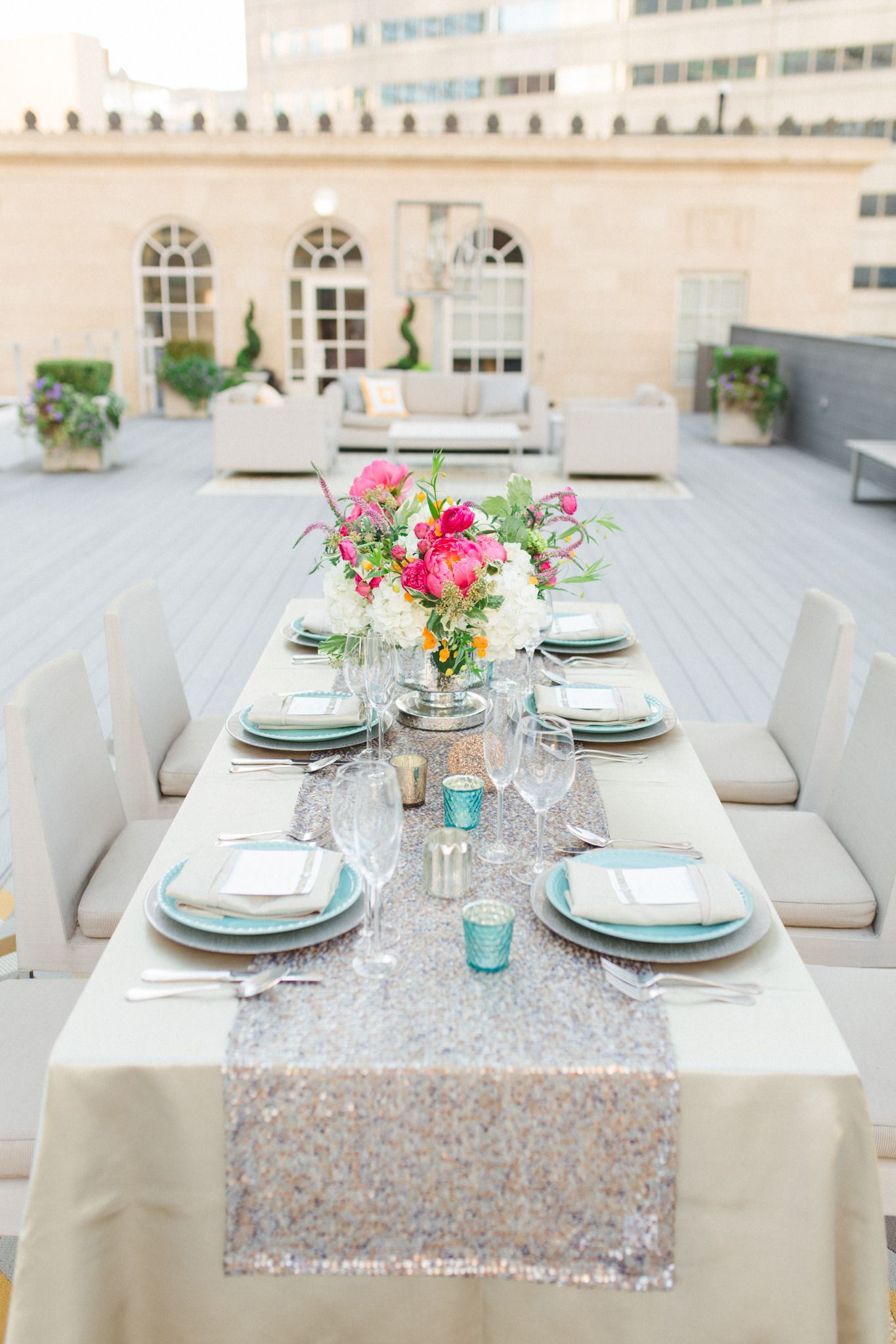 The Venue At 400 North Ervay Inspiration Shoot | Floral centerpieces ...
