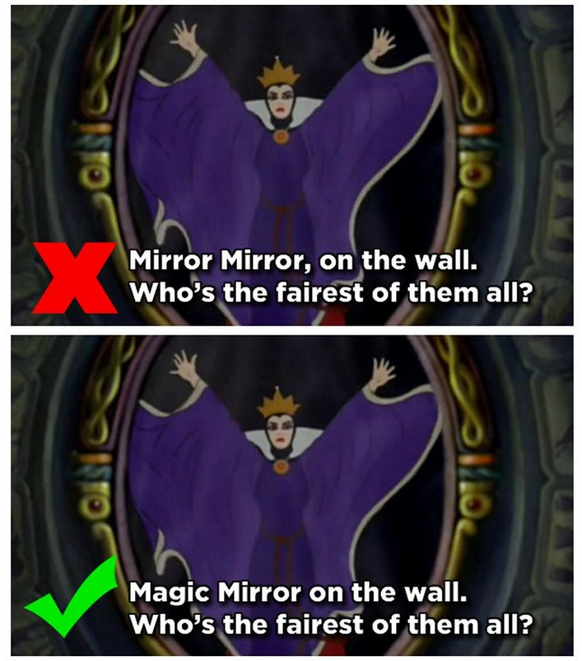 Mirror Mirror On The Wall Who Is The Fairest Of Them All With