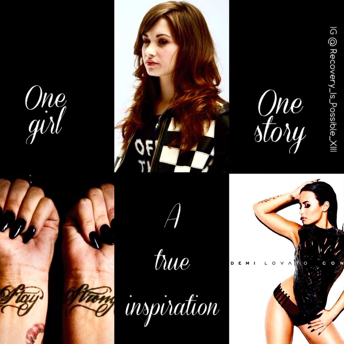 One girl. One story. A true inspiration. Demi Lovato.