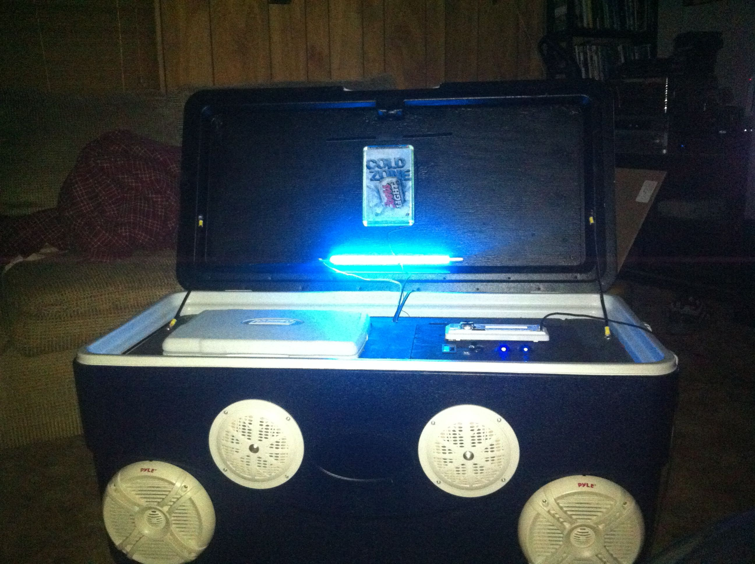 Ice chest Stereo!