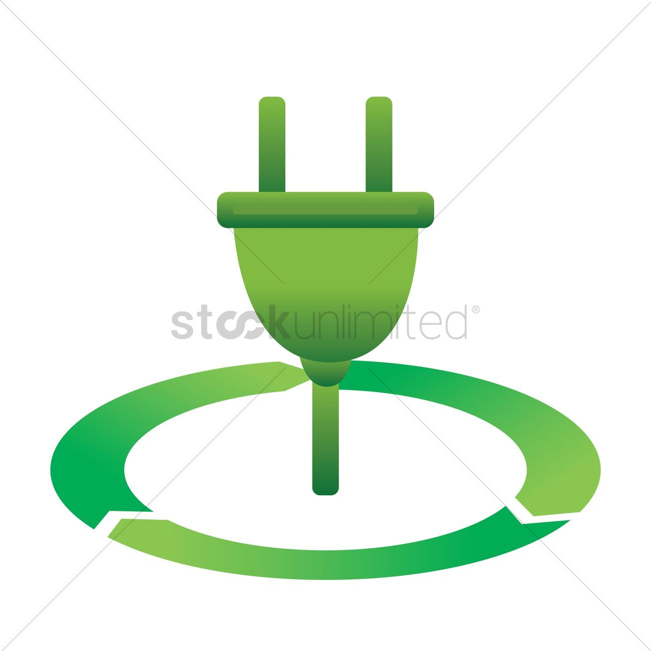 Ecology plug vectors stock clipart