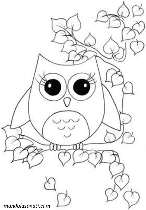 Baykus Cizimi Boyama Sayfalari Cizim Origami Owl