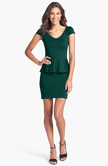 Dress for winter/fall wedding & NYE. Amanda Uprichard Ponte Knit Peplum Dress | Nordstrom
