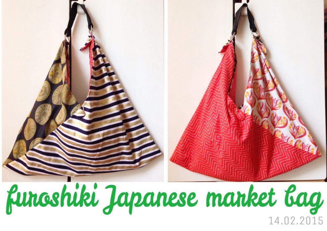 d2963abd7 Reversible furoshiki inspired Japanese origami market bag! | My ...