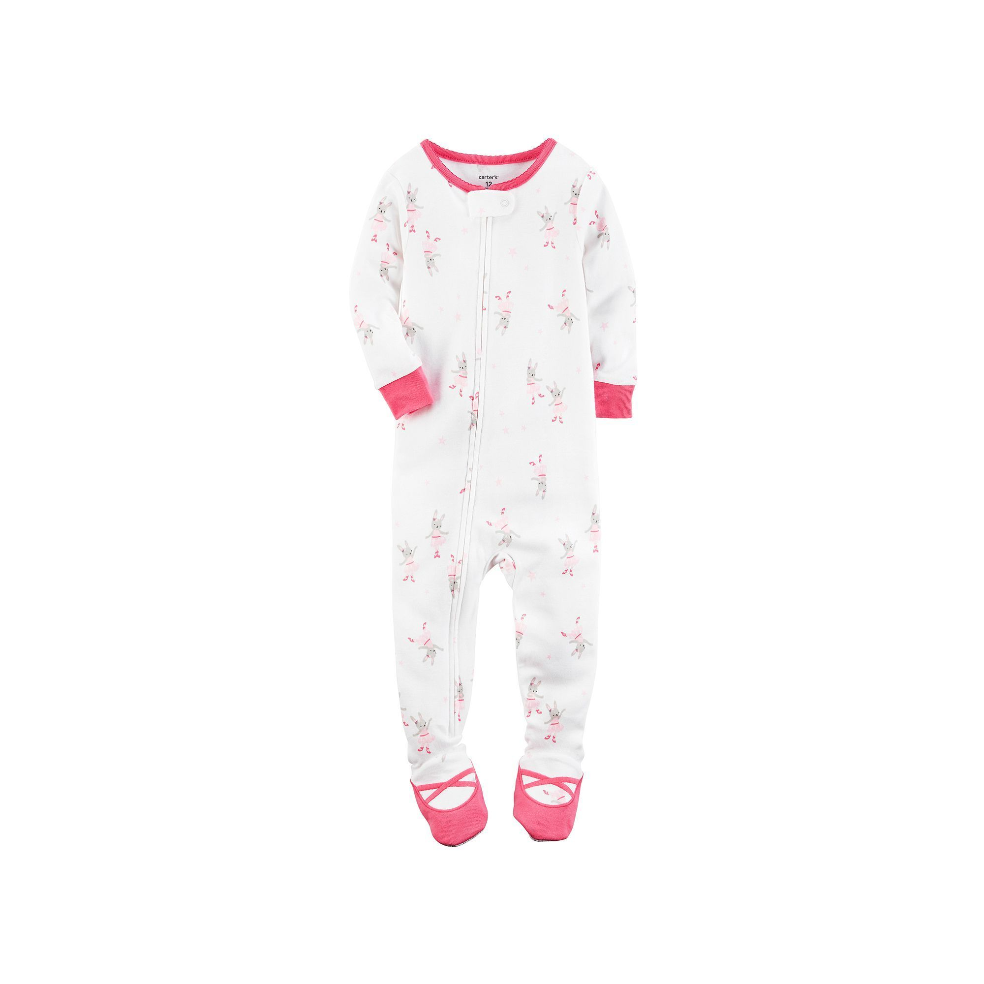 6326f3529 Baby Girl Carter s Ballerina Footed Pajamas