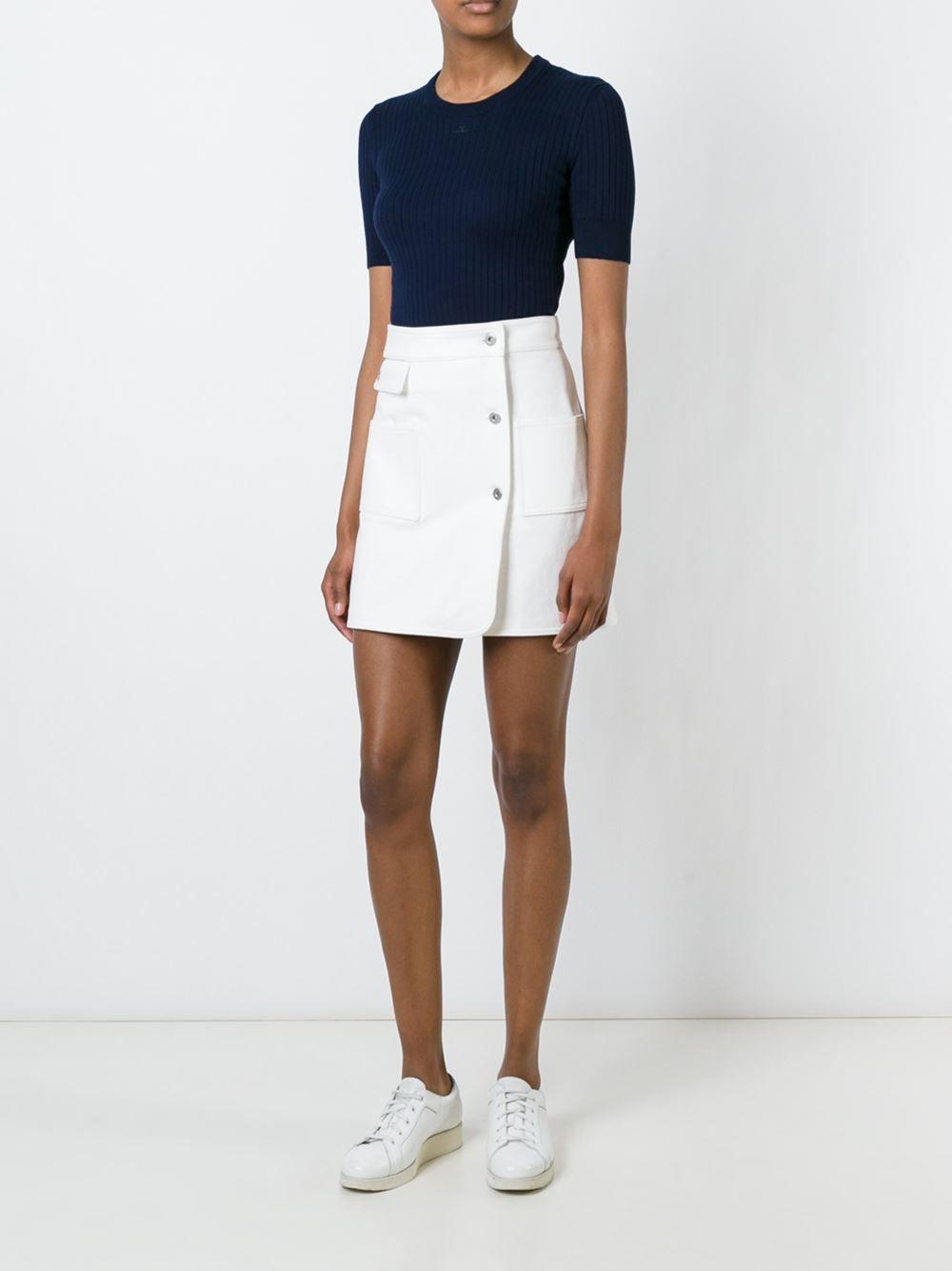 Courrèges юбка на пуговицах