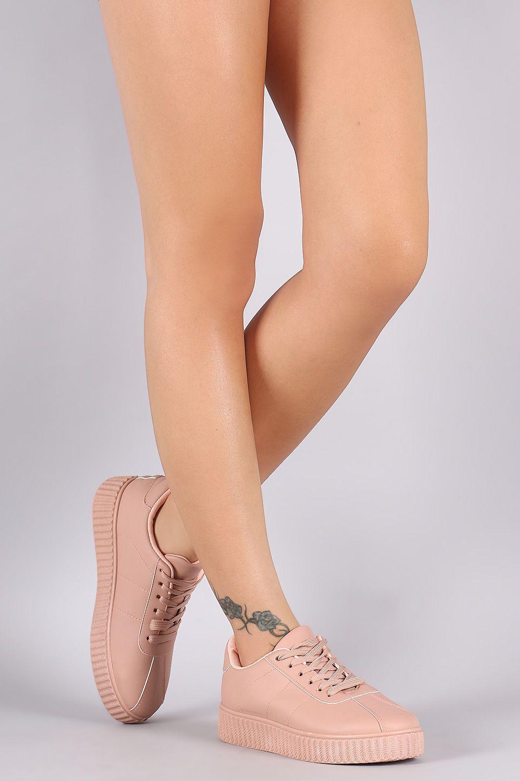 bc345c68783 Free SH   Easy Returns! Shop Qupid Ridged Platform Creeper Sneaker ...