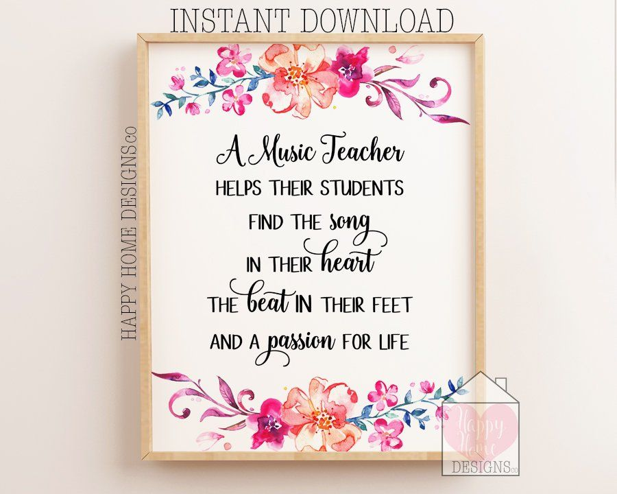Music Teacher Gift A Music Teacher Helps Their Students Music