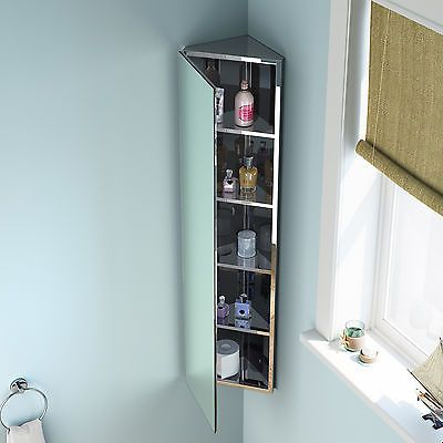 1200 X 300 Corner Mirror Cabinet Wall Hung Bathroom Furniture Vanity Unit Mc105 Mirror Cabinets Corner Mirror Corner Bathroom Mirror