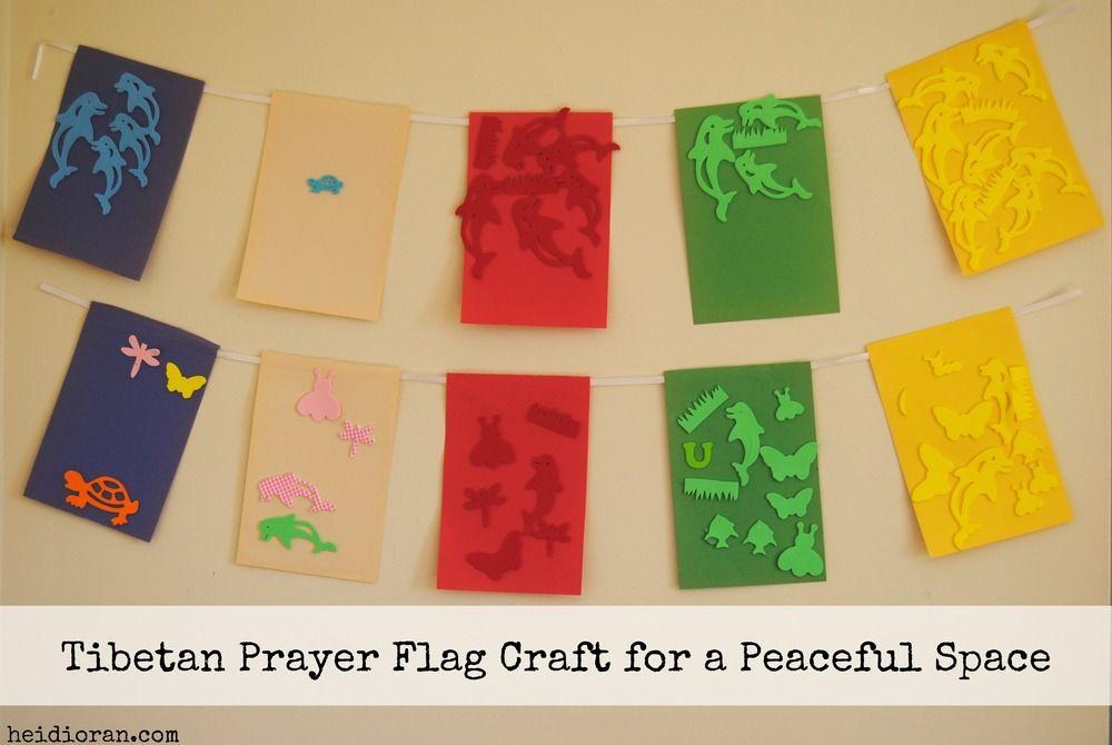 Tibetan Prayer Flag Craft For Kids Flag Crafts Tibetan Prayer Flag Prayer Flags