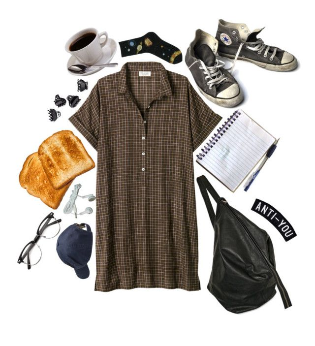 """""""drop kick"""" by k-ato ❤ liked on Polyvore featuring Toast, H&M, Rick Owens, Converse and Scotch Shrunk"""