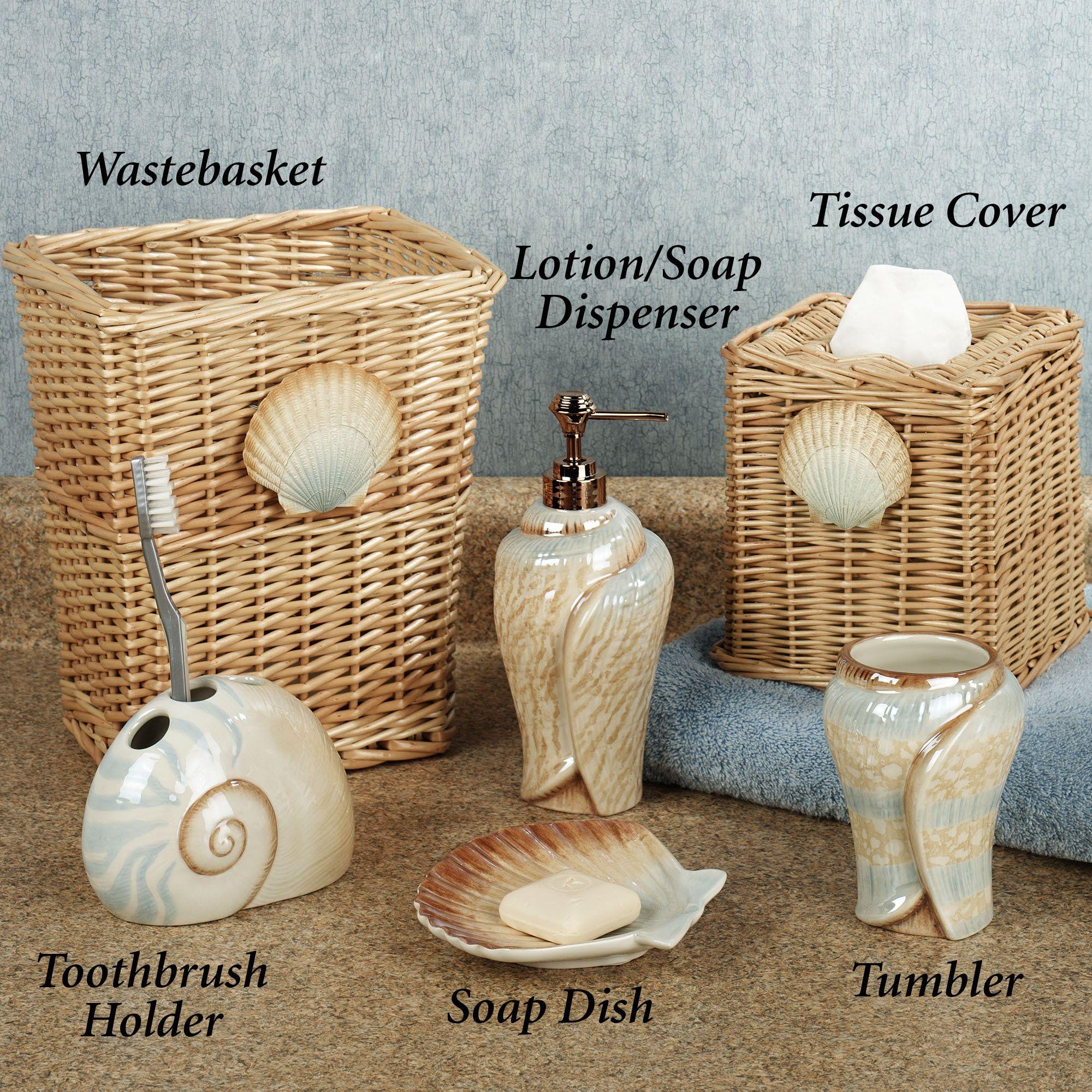 Sarasota Seashell Bath Accessories Bath Accessories Seashell
