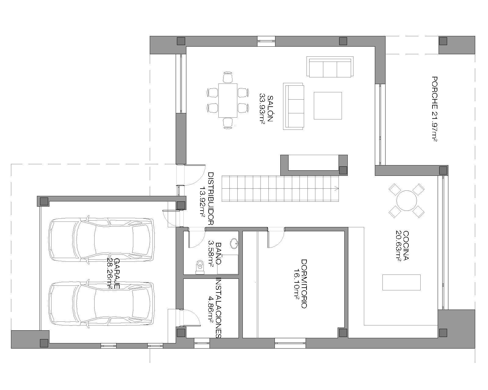 Ficha y planos de casa lux estilo contempor neo - Planos de viviendas ...