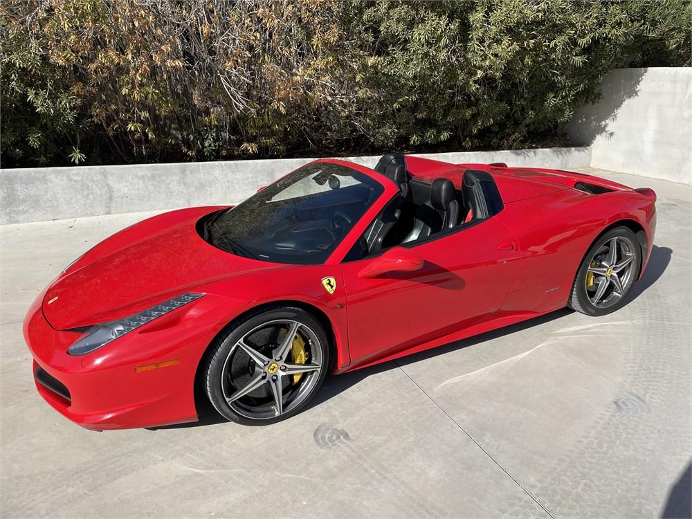 2014 Ferrari 458 Spider Available For Auction Autohunter Com 2294943 2021 페라리 페라리 458 페라리 로고