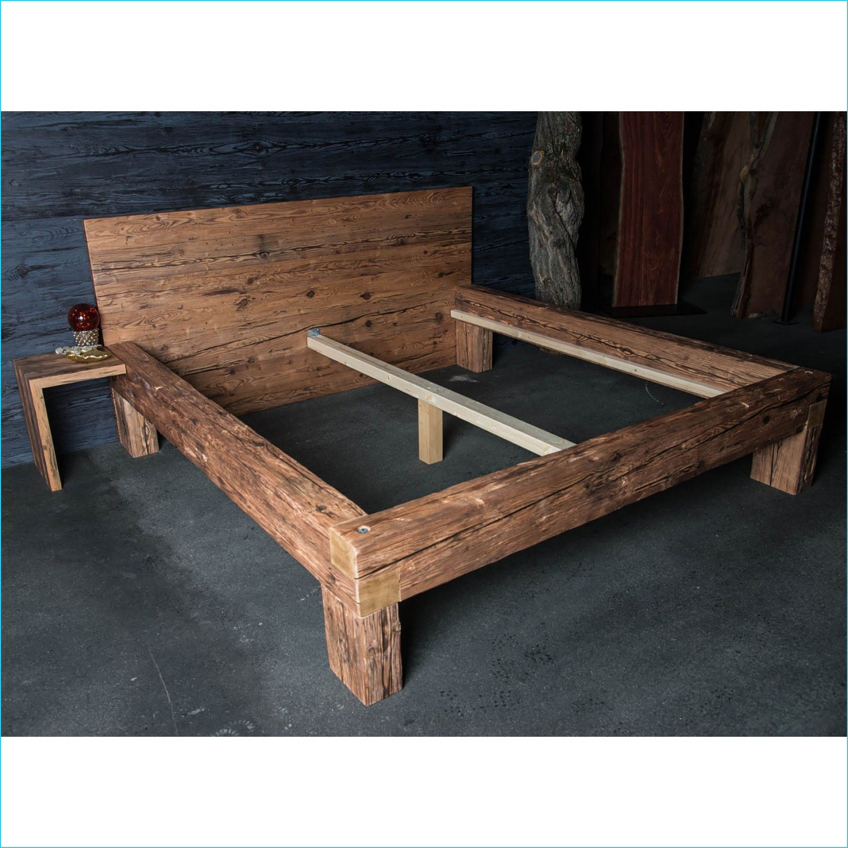 8 Aktuell Massives Holzbett in 2020 Rustic wood bed, Bed
