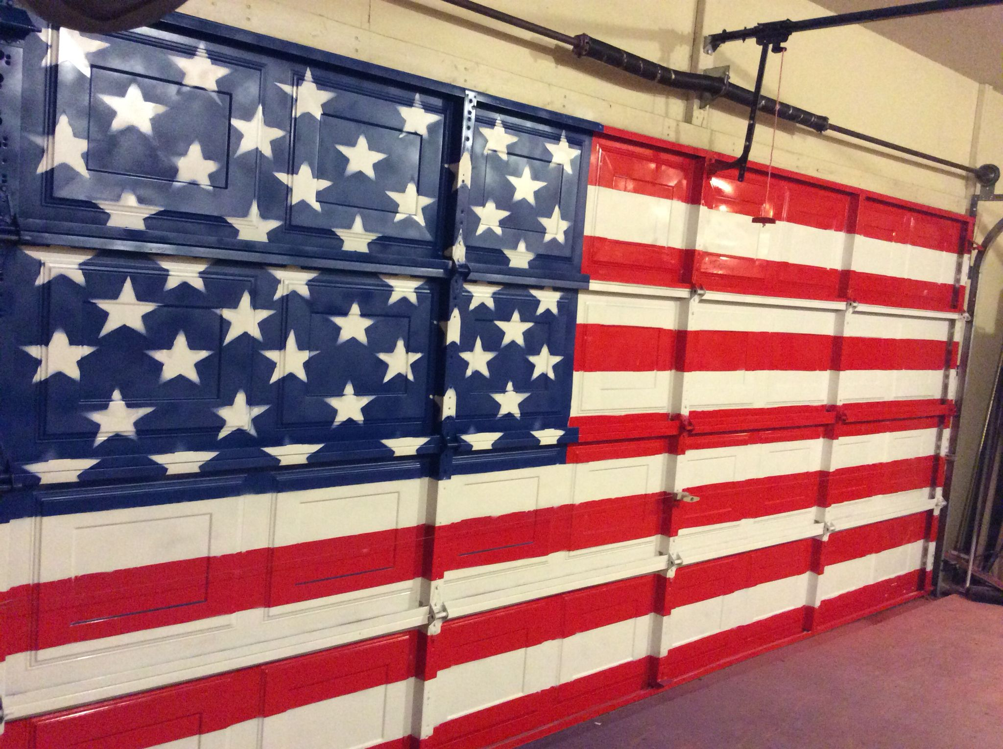 American flag painted on interior of garage door. By my man! & American flag painted on interior of garage door. By my man! | My ... pezcame.com