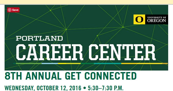 Networking Event October 12th 2016 With Portland Career Center For